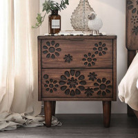 Furniture of America Amarantha Nightstand in Dark Oak