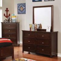 Furniture of America Brogan Dresser in Brown Cherry