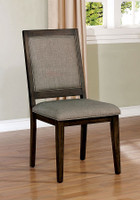 Furniture of America Ryegate Side Chair in Walnut