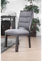 Furniture of America Mandy Side Chair in Gray