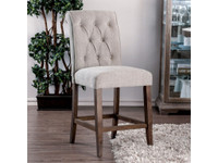 Furniture of America Sania III Counter Height Chair in Oak