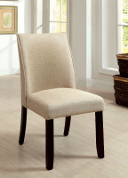 Furniture of America Cimma Upholstered Side Chair in Ivory