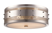 New Arrival - Active Home Centre 3 Light Flush Mount in Brushed Nickel