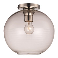 New Arrival - Active Home Centre 1 Light Flush Mount in Polished Nickel