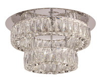 New Arrival - Active Home Centre Small LED Flush Mount in Polished Chrome