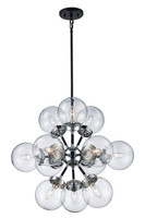 Active Home Centre 12 Light Pendant in Polished Chrome and Black