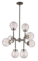 New Arrival - Active Home Centre 8 Light Pendant in Polished Chrome and Black