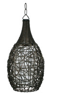 Active Home Centre 1 Light Rattan Pendant Light in Brown