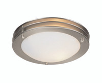 Active Home Centre Flush Mount 1 Light in Satin Nickel