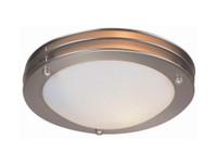 New Arrival - Active Home Centre 2-Light Flush Mount in Satin Nickel