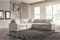New Arrival - Ashley Savesto 5-Piece Sectional in Ivory