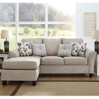 Ashley Abney Sofa Chaise in Driftwood