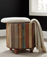 New Arrival - Ashley Oristano Ottoman in Multi