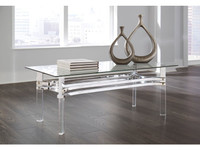 New Arrival - Ashley Braddoni Coffee Table in Chrome