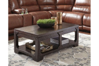 New Arrival - Ashley Rogness Coffee Table in Rustic Brown