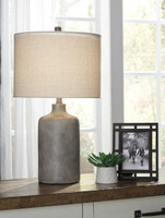 New Arrival - Ashley Linus Table Lamp in Antique Black
