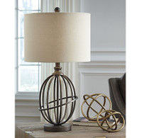 New Arrival - Ashley Manasa Table Lamp in Bronze