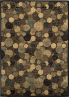 Ashley Vance Medium Rug in Brown and Cream