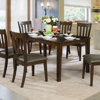 Furniture of America Linton 7-piece Dining Table Set in Antique Warm Grey