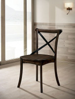 Furniture of America Saige Side Chair in Brushed Oak