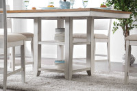 Furniture of America Brigid Counter Height Table in White