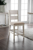 Furniture of America Brigid Counter Height Chair in White