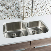 "Active Home Centre 31"" Undermount Kitchen Double Sink in Stainless Steel"