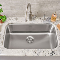 "Active Home Centre 23"" Undermount Kitchen Single Sink in Stainless Steel"