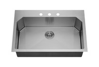 "Active Home Centre 32"" Undermount Kitchen Single Sink in Stainless Steel"