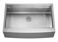 "Active Home Centre 33"" Apron Front Single Kitchen Sink in Stainless Steel"