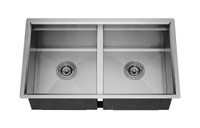 "Active Home Centre 32"" Undermount Double Kitchen Sink in Stainless Steel"