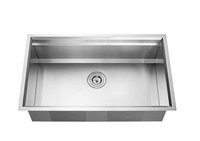 "Active Home Centre 32"" Undermount Single Kitchen Sink in Stainless Steel"