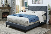 New Arrival - Furniture of America Estarra King Upholstered Bed frame in Gray
