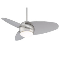 "Minka-Aire Slant 36"" Indoor Ceiling Fan in Brushed Steel"