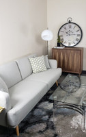 Active Home Centre Sofa Bed in Cream with Pillows