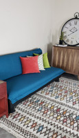Active Home Centre Sofa Bed in Blue with Removable Cover
