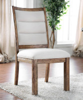 Furniture of America Mandy Side Chair in Oak