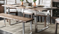 Furniture of America Mandy Dining Room Table in Oak