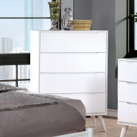 Furniture of America Lennart II 4 Drawer Chest in White