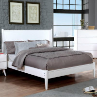 Furniture of America Lennart II Queen Panel Bed Frame in White