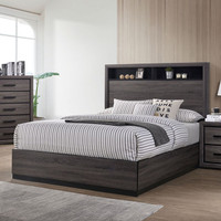 Furniture of America Conwy Queen Bed Frame in Gray