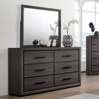Furniture of America Conwy 6 Drawer Dresser in Gray