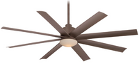 "Minka-Aire Slipstream LED 65"" 8 Blade Outdoor Ceiling Fan in Oil Rubbed Bronze"