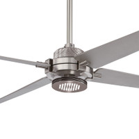 "Minka-Aire Spectre LED 60"" Indoor Ceiling Fan in Brushed Nickel with Silver Blades"