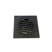 Active Home Centre Brass Square Shower Drain in Black Bronze