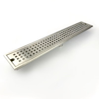 Active Home Centre Brass Linear Shower Drain in Nickel