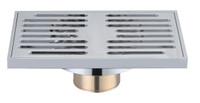 Active Home Centre Brass Rectangular Shower Drain in Chrome