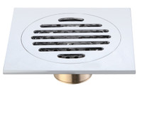 Active Home Centre Brass Square Shower Drain in Chrome