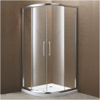"Active Home Centre 35"" Tempered Glass Shower Enclosure with Tray (07KO-K854-1)"