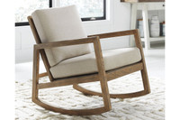 Ashley Novelda Accent Rocking Chair in Neutral
